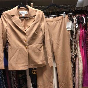 Doncaster tan pant suit